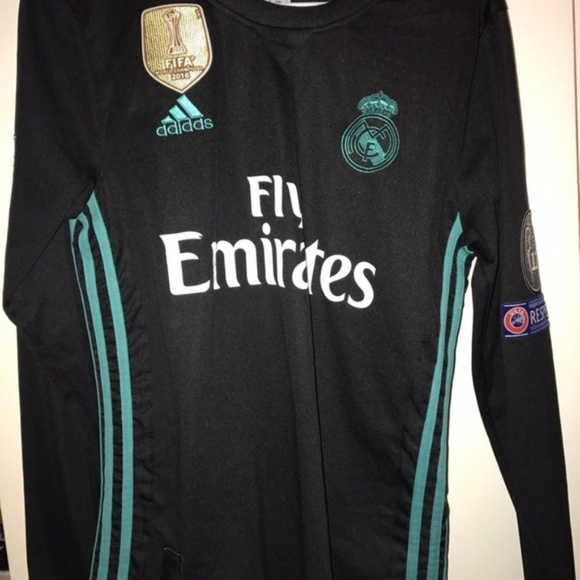 detailed look 5e220 2afd6 Real Madrid Ronaldo Black Long Sleeve Champions NWT